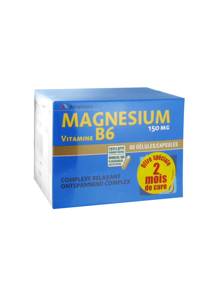 prix d 39 arkopharma arkovital magn sium vitamine b6 lot de 2 x 60 g lules. Black Bedroom Furniture Sets. Home Design Ideas