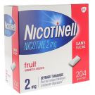 Nicotinell 2mg fruits rouges 204 gommes