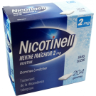 Nicotinell 2mg menthe fraîcheur 204 gommes