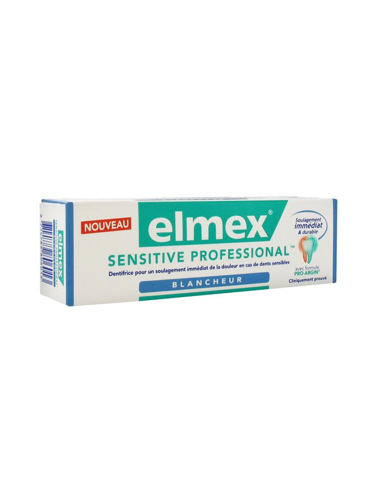 prix d 39 elmex dentifrice sensitive professional blancheur 75ml. Black Bedroom Furniture Sets. Home Design Ideas
