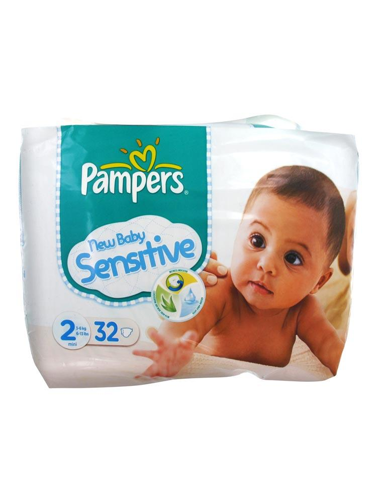 Prix de pampers new baby sensitive 2 mini 3 6kg 32 couches - Prix couches pampers new baby taille 1 ...