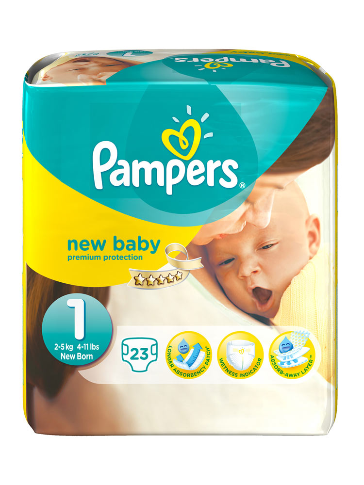 Prix de pampers new baby taille 1 2 5kg 23 couches - Comparateur de prix couches pampers ...